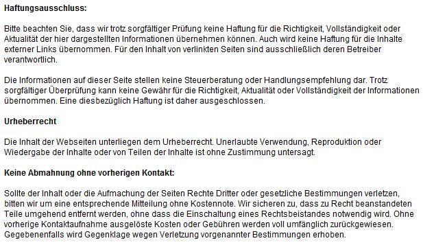 Rabattrechner-Haftung